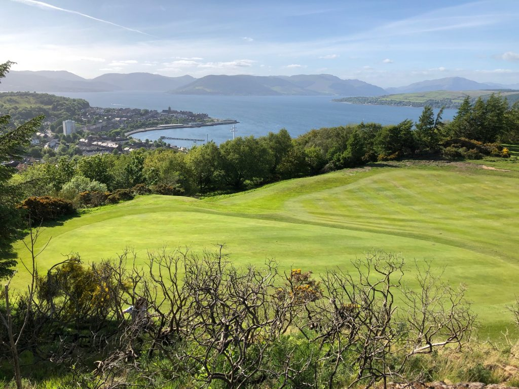 7th green at Greenock Golf Club